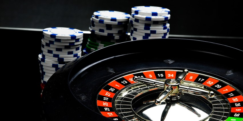 roulette table with roulette chips