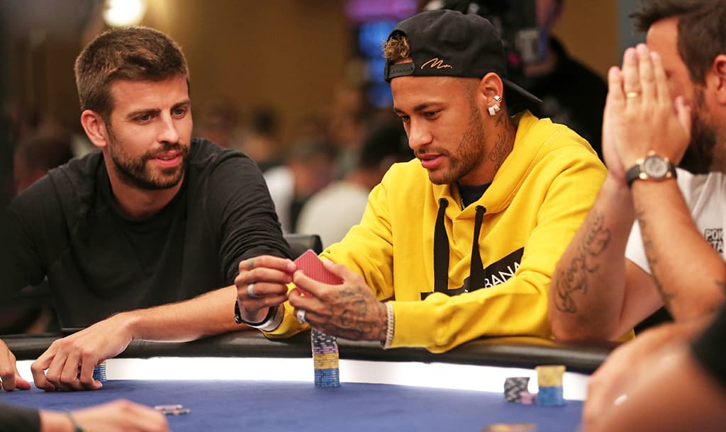 Neymar playing poker