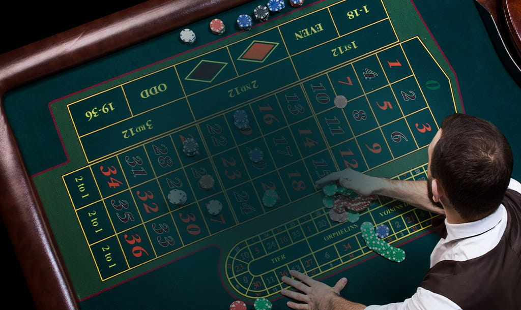 croupier in casino