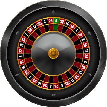 french roulette wheel visual